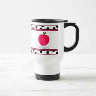Lehrer-Tasse - Polka-Punkt-Apple-Reise-Tasse