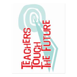 Lehrer-Touch die Zukunft Postkarte