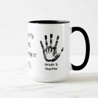 Lehrer-Touch-morgen heute - personalisierte Schale Tasse