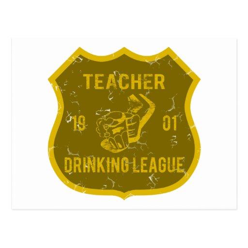 Lehrer-trinkende Liga Postkarte