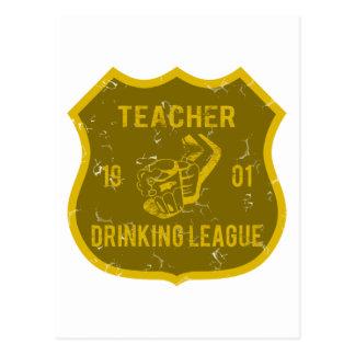 Lehrer-trinkende Liga Postkarten