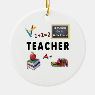 Lehrer tun es mit Klasse Keramik Ornament