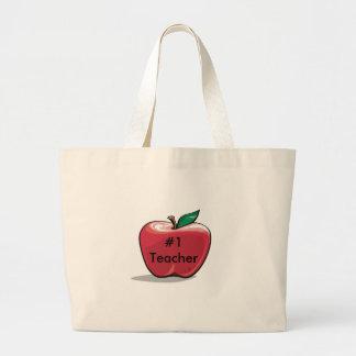Lehrer-Tunnel-bohrwagenTasche Apple-Zahl-eine Jumbo Stoffbeutel