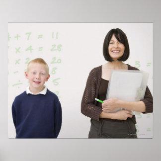 Lehrer und Schüler Poster