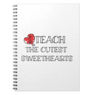 Lehrer-Valentinstag-lustige Lehrer-Geschenke Spiral Notizblock