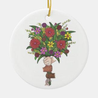 Lehrer-Verzierung Blumen-Blumenstraußvalentines Keramik Ornament