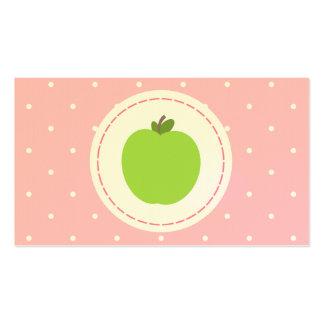 Lehrer-Visitenkarte - Rosa mit weißen Tupfen