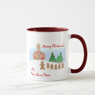 Lehrer-WeihnachtsTasse - Lebkuchen-Szene Tasse