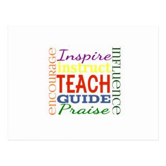 Lehrer-Wort-Bild-Lehrer-Schulkinder Postkarte