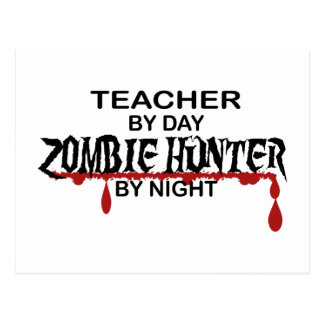 Lehrer-Zombie-Jäger Postkarten