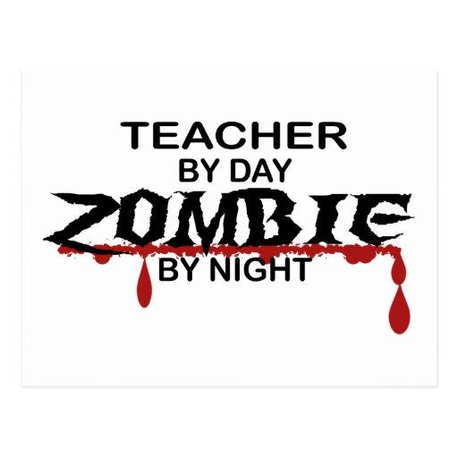Lehrer-Zombie Postkarte