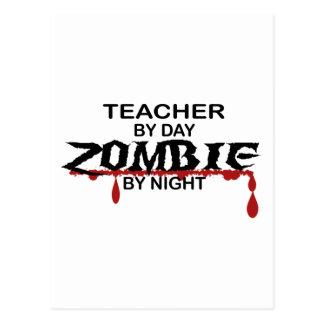 Lehrer-Zombie Postkarten