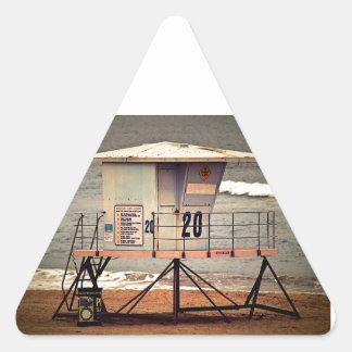 Leibwächter-Haus Huntington Beach Dreieckiger Aufkleber
