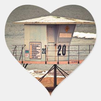 Leibwächter-Haus Huntington Beach Herz-Aufkleber