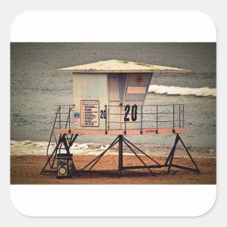 Leibwächter-Haus Huntington Beach Quadratischer Aufkleber