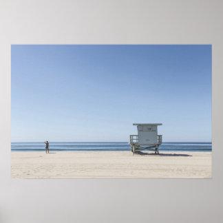 Leibwächter-Station auf einem Strand Poster