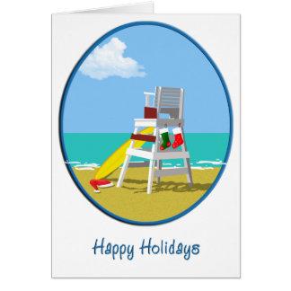 Leibwächter-Stuhl am Weihnachten Karte