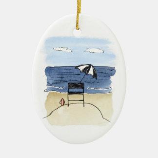 Leibwächter-Stuhl auf der Strand-Verzierung Keramik Ornament