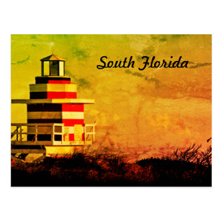 Leibwächter-Südflorida-Strand-Postkarte Postkarte