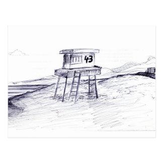 Leibwächter-Turm-Postkarte Postkarte