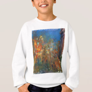 Leicester-Quadrat nachts durch Claude Monet Sweatshirt