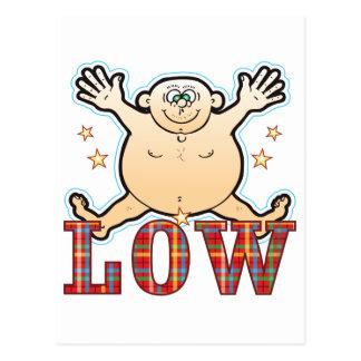 Leicht fetthaltiger Mann Postkarte