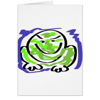 Leicht reizbarer Frosch Karte
