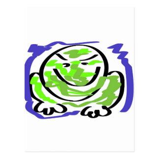 Leicht reizbarer Frosch Postkarte