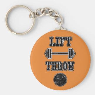 Leichtathletik-Kugelstoßen-Spritzring Keychain Schlüsselanhänger