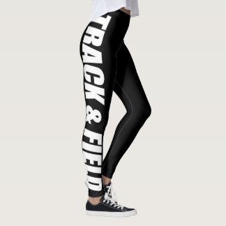 Leichtathletik-typografische Gamaschen für Läufer Leggings