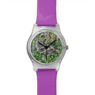 Leichte grauer Wolf-Natur und Tier-Entwurf Uhr