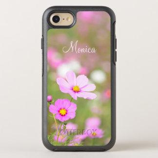 Leichte rosa Blume - mit Namen OtterBox Symmetry iPhone 7 Hülle