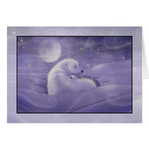 Leichte Winter-Eisbär-Feiertags-Karte