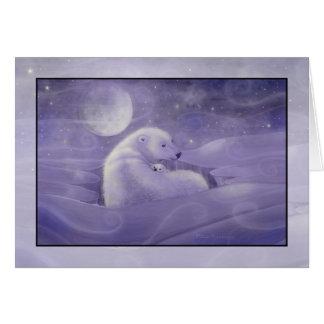 Leichte Winter-Eisbär-Feiertags-Karte Grußkarte