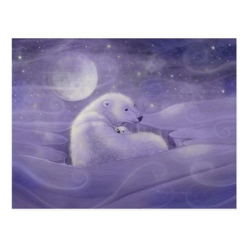 Leichte Winter-Eisbär-Postkarte