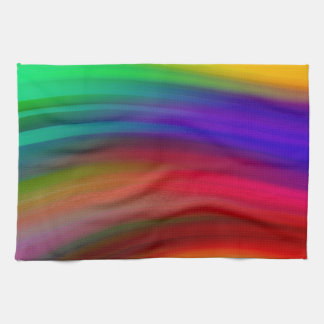 Leichter Regenbogen bewegt abstraktes wellenartig Handtücher