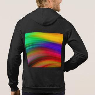 Leichter Regenbogen bewegt abstraktes wellenartig Hoodie