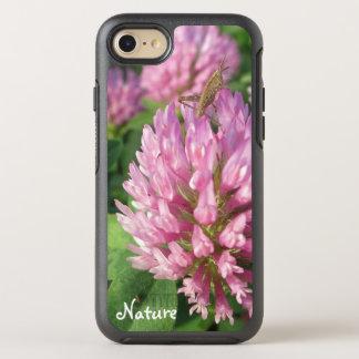 Leichter rosa Klee - Name oder Text - von Natur OtterBox Symmetry iPhone 8/7 Hülle