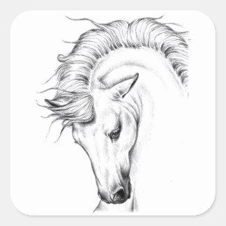 Leichter Stallion Quadratischer Aufkleber