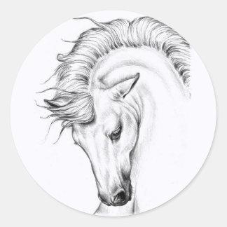 Leichter Stallion Runder Aufkleber