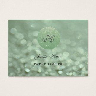 Leichtes elegantes schickes bokeh glittery visitenkarte