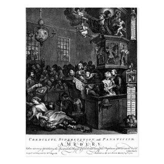 Leichtgläubigkeit, Aberglaube und Fanatismus durch Postkarte
