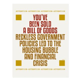 Leichtsinnige Regierungs-Politik Postkarte