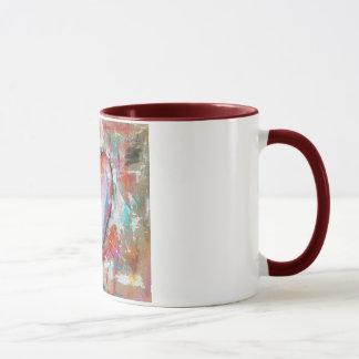Leichtsinniges Herz-abstrakte Kunst, die rosarotes Tasse