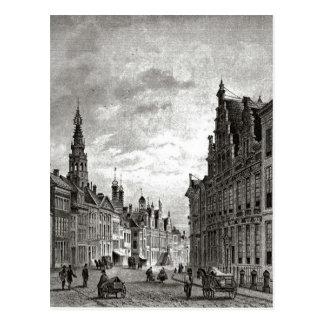 Leiden des 19. Jahrhunderts, Hauptstraße Postkarte