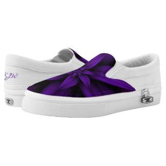 Leidenschaftliche lila Blume Slip-On Sneaker