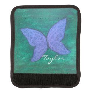 Leidenschaftliches lila Schmetterlings-Namensgrün Gepäckgriff Marker