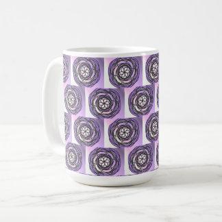 Leidenschafts-Blumen-lila Muster Kaffeetasse