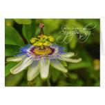 Leidenschafts-Blumen-tiefste Beileidskarte Grußkarte