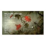 Leidenschafts-Blumen-und Kolibri-Geschäfts-Karten